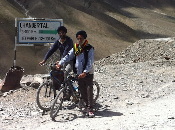 Cycling off the pass